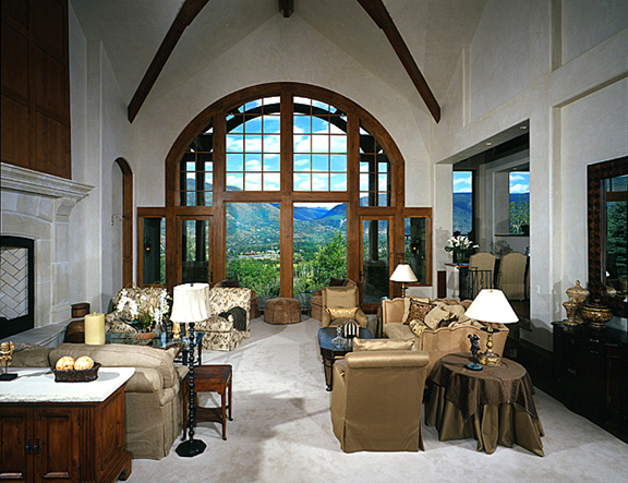 Lot 44 Maroon Creek Club Johannsson Architects Aspen Livin Room