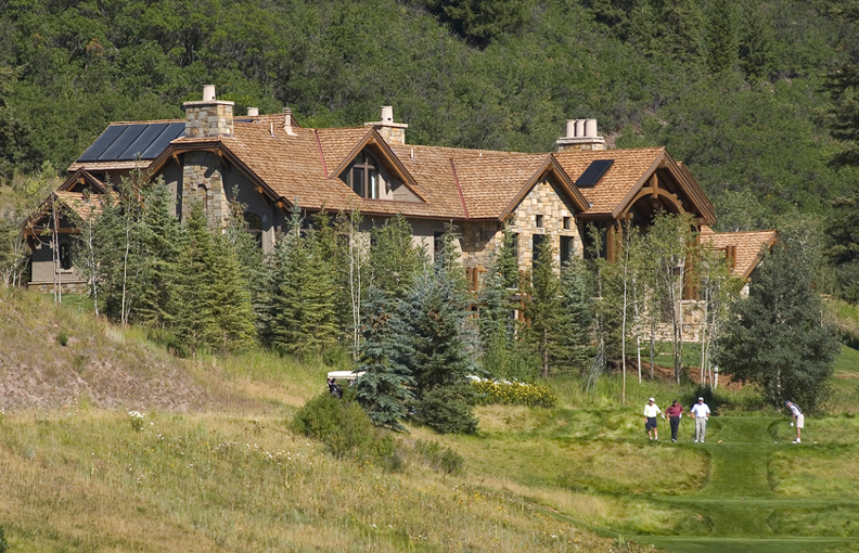 Lot 44 Maroon Creek Club Johannsson Architects Aspen Colorado view from golf course