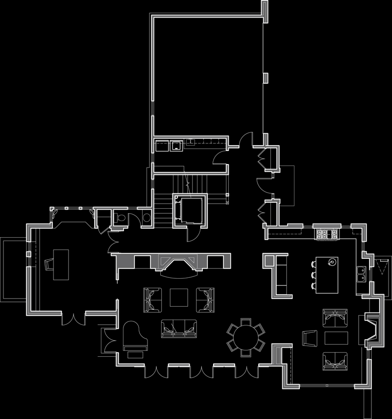 100 Red Mountain Road Main floor plan